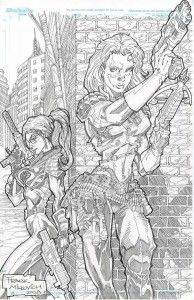 Scarlett Vs Baroness Set up your own custom GI Joe commission today by published artists . Email us today for your quote.