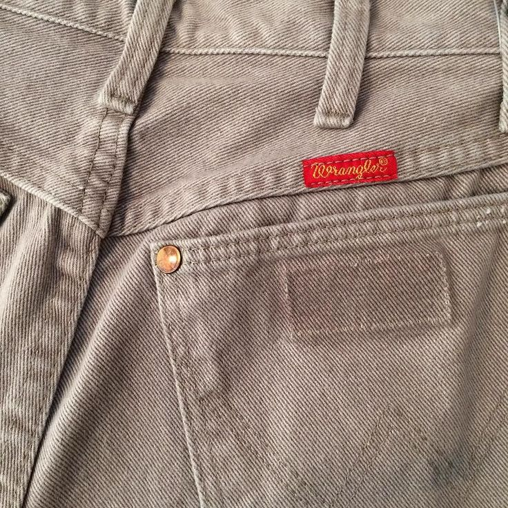 These vintage Wrangler jeans are in the prettiest faded taupe color size 26. Online and in-store.