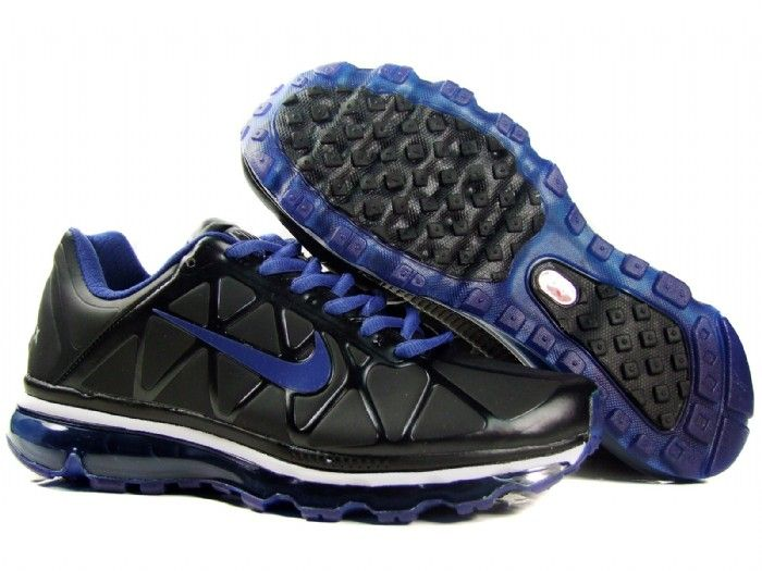 Danmark Billige Nike Air Max 2011 Trainers Mænd - Leather Black/Blue