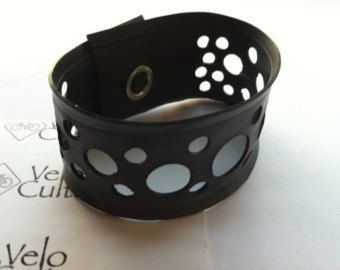 Items similar to Eco Friendly Cuff Bracelet Upcycled Bicycle Inner Tube - custom order on Etsy