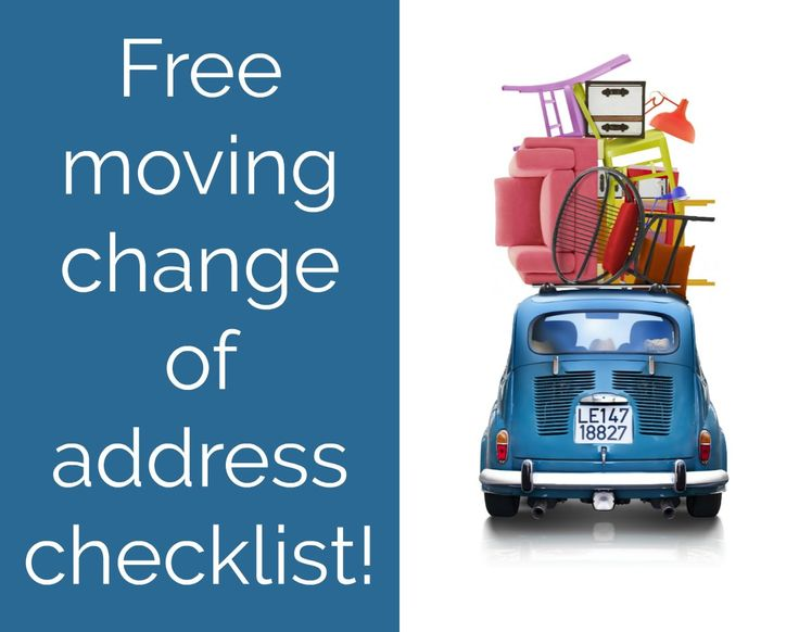 Best  Change Address Checklist Ideas On   Change