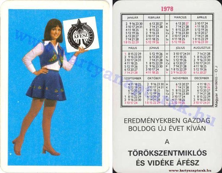 1978 - 1978_0916 - Régi magyar kártyanaptárak