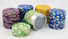 150g Washi paper tea canister BLUE & GREEN MIX