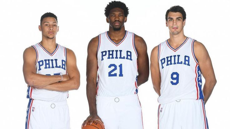 PHILA @sixers  @joelembiid @megalodon20 @bensimmons #embiid #simmons #saric #bigthree #sixers