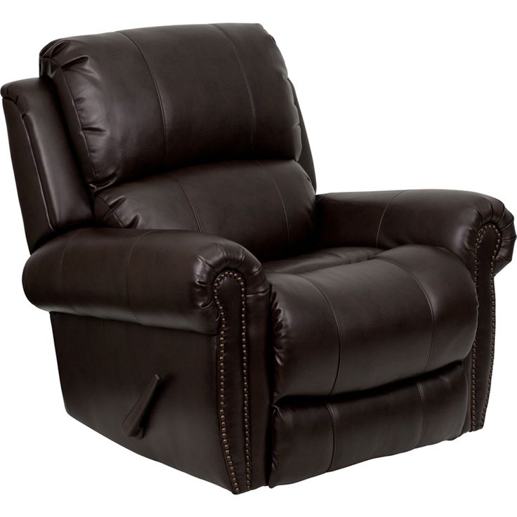 Captivating Flash Furniture Brown Bonded Leather Nailhead Trim Motion Recliner By Flash  Furniture Amazing Ideas