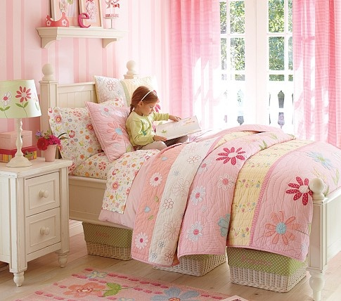 Lyla siad this would be the perfect bed for her and it even has baskets under it :)    Thomas Bedroom Set, Rustic Sun Valley White | Pottery Barn Kids