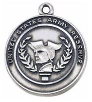 Army Reserve Sterling Silver St. Michael Military Medal from Jeweled Cross