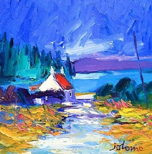 morning light crinan harbour by Jolomo from House of Bruar website