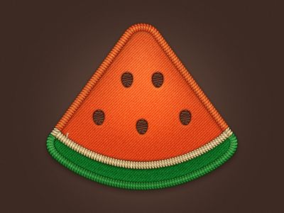 Watermelon Pizza Badge by Anna Paschenko