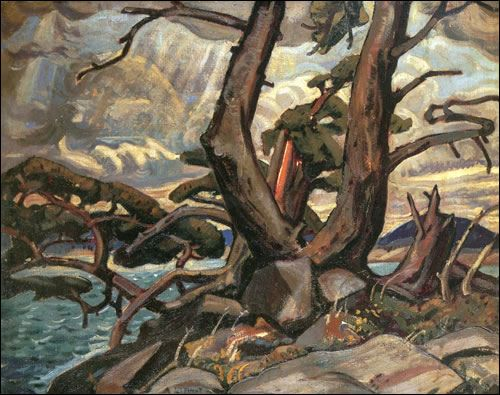 Arthur Lismer-Group of Seven- Old Pine McGregor Bay