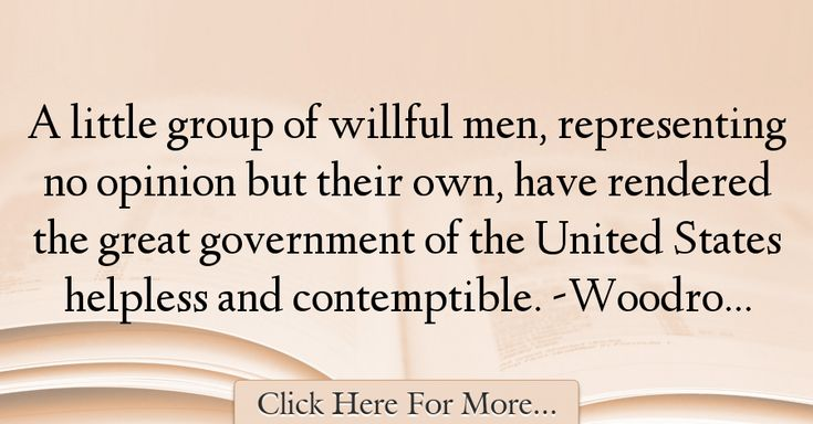 Woodrow Wilson Quotes About Government - 30009