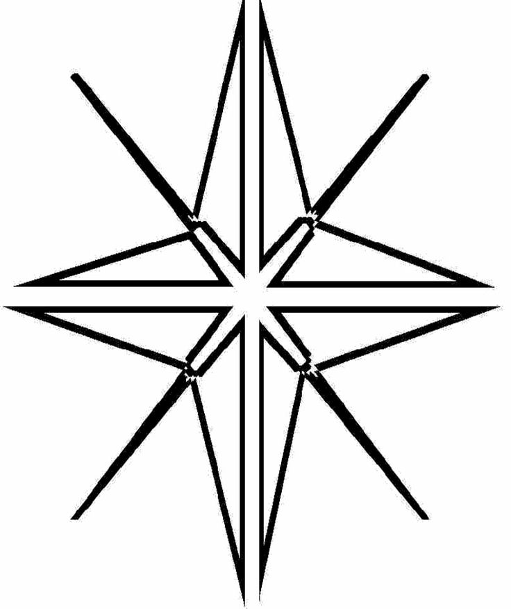 Christmas Star Of Bethlem Coloring For Kids | Star of ...