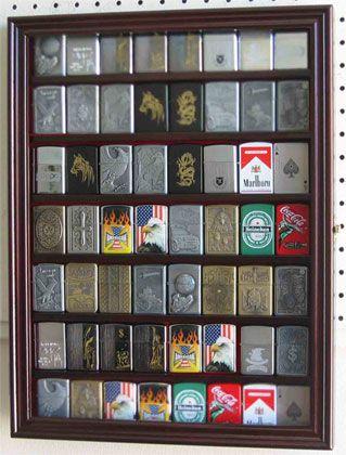 56 Zippo Lighter Display Case