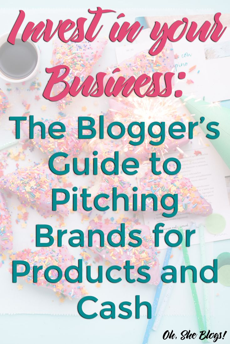 The Blogger's Guide to Pitching Brands for Products and Cash is a must-have product for bloggers who want to work with brands!