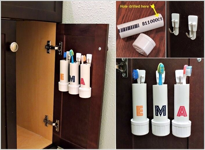 Amazing Interior Design 10 Cool DIY Toothbrush Holders for Your Bathroom