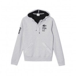 Motif fleece sweatshirt, Grey