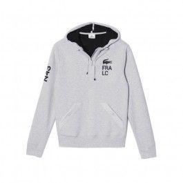 Motif fleece sweatshirt, Grey