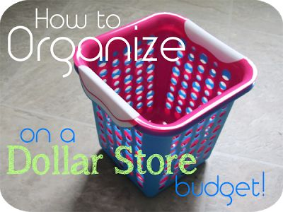Buying organization tools can get expensive. Here are some great tips for how to organize on the cheap... #organization
