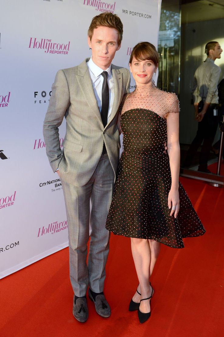 Eddie Redmayne and Felicity Jones  The onscreen husband and wife's film was based on a memoir by Hawking's wife.