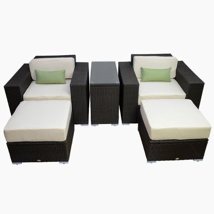 Discount Until Outsunny 5pc Outdoor PE Rattan Wicker Lounge