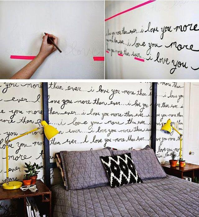 Use uma fita como pauta, escreva à lápis primeiro, e depois pinte por cima. Isso evita erros