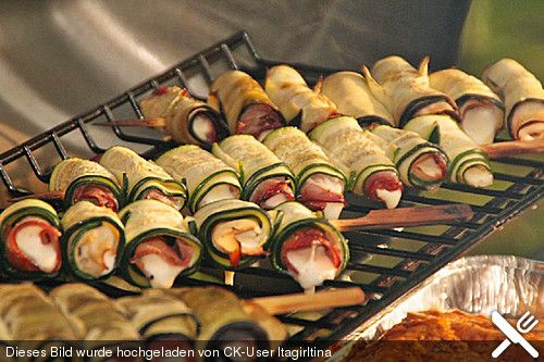Gegrillte Zucchiniröllchen (Rezept mit Bild) von Itagirltina   Chefkoch.de