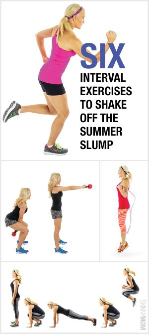 Look toned with these 6 interval exercises.