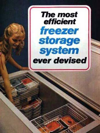 Deep Freezer Storage Baskets | cover from a 1970s brochure that still applies, yet only £18 each