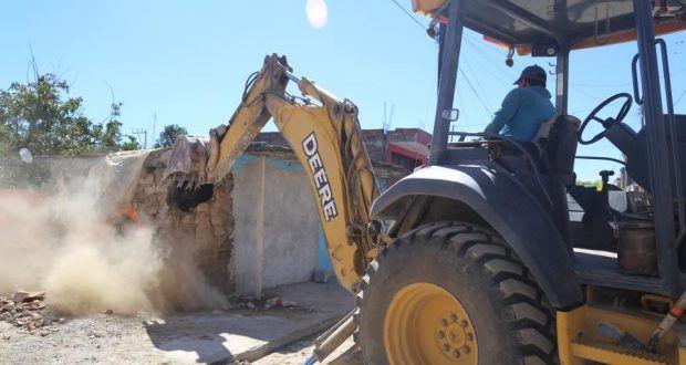 Iniciaran trabajos de reconstrucción en Metepec fuera del polígono protegido por INAH – Metepec Atlixco Puebla