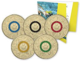 two thousand and sixteen two dollar coloured coin collection two thousand and sixteen australian olympic team program