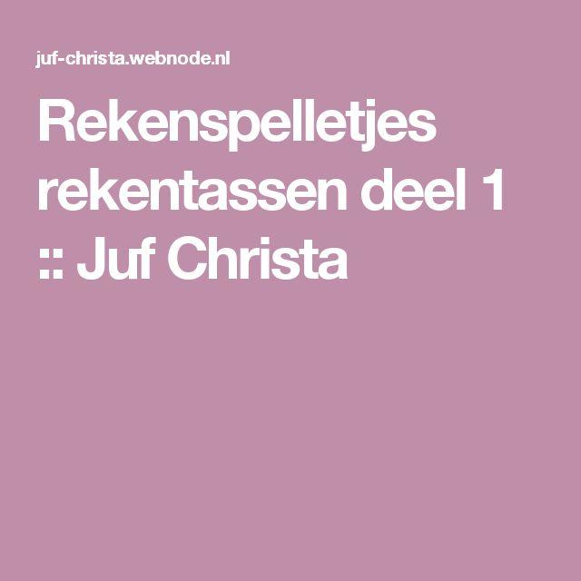 Rekenspelletjes rekentassen deel 1 :: Juf Christa