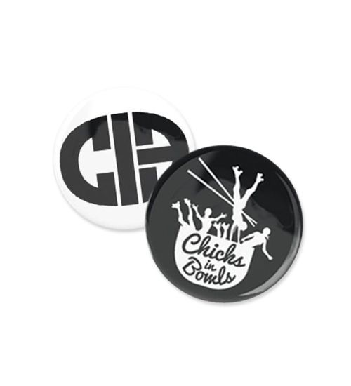 CIB pins come in sets of two 1 x White CIB pin 1 x Black Original pin Badges are 1