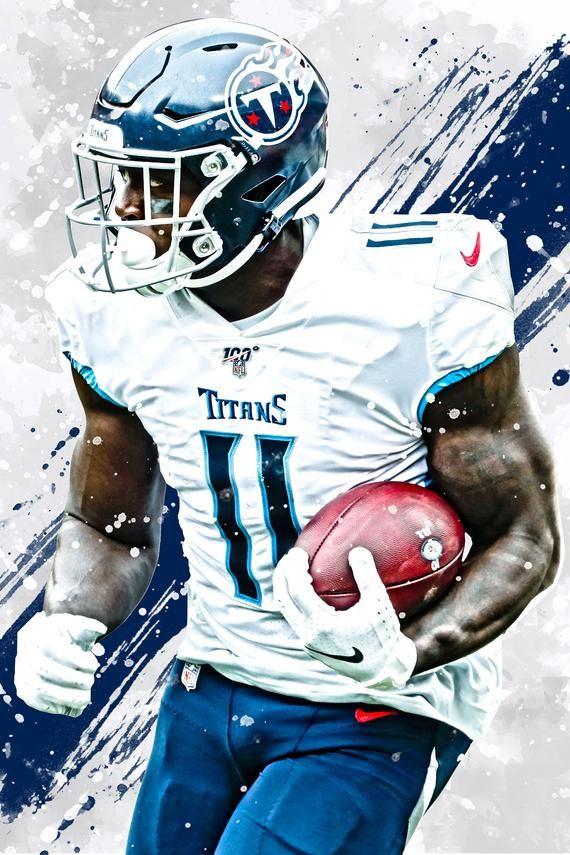Aj brown tennessee titans poster print sports art