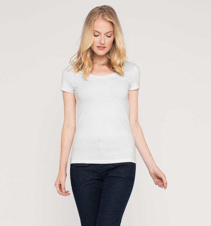 L2017 Sklep internetowy C&A | T-shirt z bawełny ekologicznej, kolor:  biały | Dobra jakość w niskiej cenie