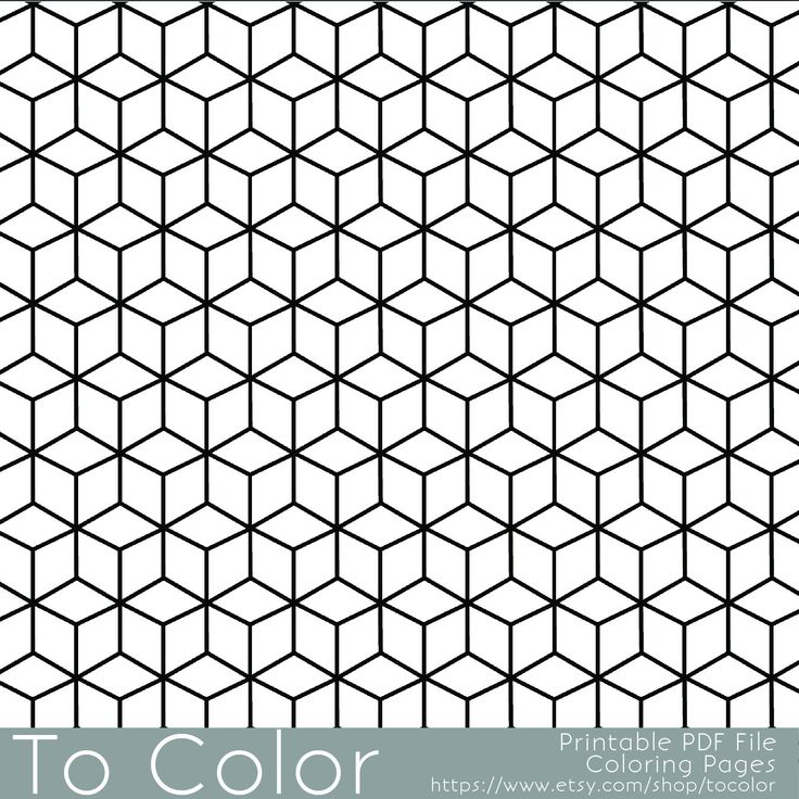 Printable Coloring Pages for Adults, Geometric Repeating Pattern, PDF / JPG, Instant Download, Coloring Book, Coloring Sheet, Grown Ups by ToColor on Etsy