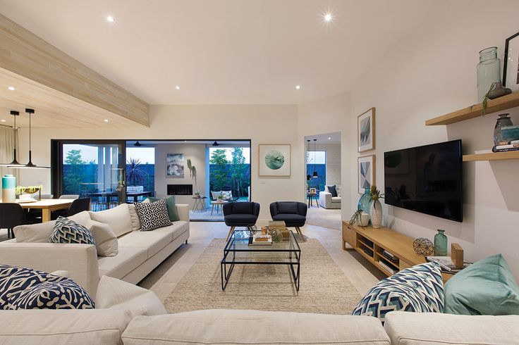 Family room in the Vermont display with a Cottesloe World of Style.