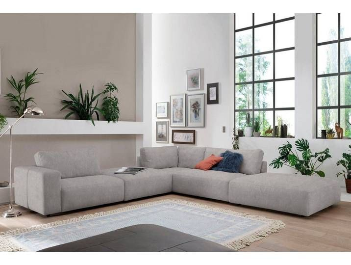 Eck Couch Silber Kontrastnaht Wabenstichoptik 340cm Recamiere Re In 2020 Corner Sofa Furniture Home Decor