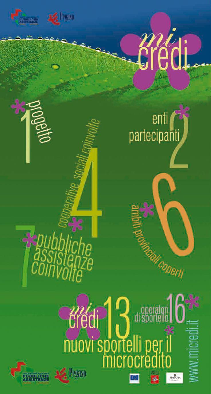 Materiale informativo promozionale per il servizio Microcredito di Anpas toscana. Sonia Squilloni © 2008 Graphic Designer