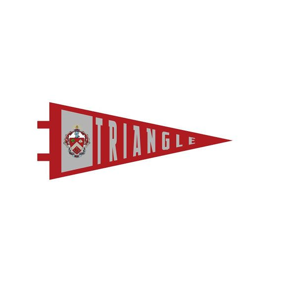 Hey, I found this really awesome Etsy listing at https://www.etsy.com/listing/386595520/triangle-fraternity-pennant-decal