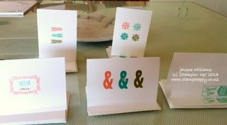 Stampin up hello lovely card set