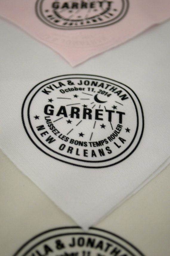quantity: 150 NEW and UNIQUE Second Line Handkerchief, New Orleans Water Meter, personalized names, date, location