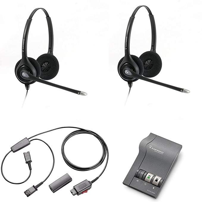 Plantronics Hw261n Headset Training Bundle Headsets M22 Digital Headser Adapter Y Training Splitter Cord 27019 03 With Mute Button Use For Coaching Su