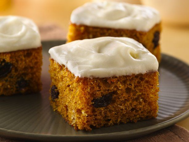 Pumpkin Bars Smothered with Cream Cheese Frosting