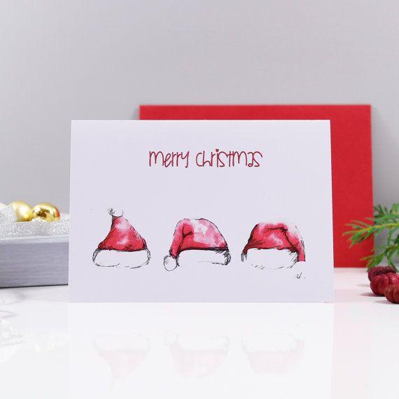 Ces amusantes chapeau de père Noël cartes de Noël, restera un régal avec tout le monde sur votre liste de carte de Noël. Avec un choix de conception trop. Vous pouvez acheter ces cartes sur leur propre ou comme un paquet multiple. Mix et match qui chapeau de père Noël design que vous souhaitez, s'il vous plaît voir les menu des bas pour plus d'informations. Chaque père a été à l'origine à la main peint ce qui les rend unique en son genre que vous ne trouverez nulle part ailleurs. Le prix par…