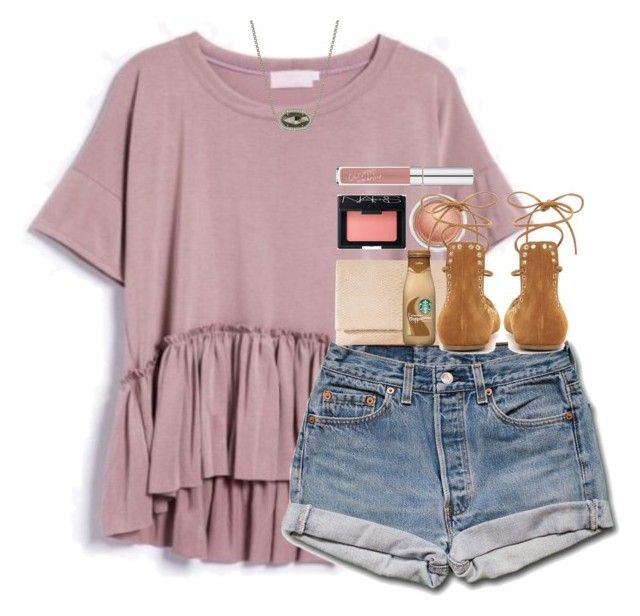 LOVVVVE this top. It is a casual outfit that actually has the little pops like the design on the shirt and the adorable sandals that pull the outfit together,(love the Starbucks too).