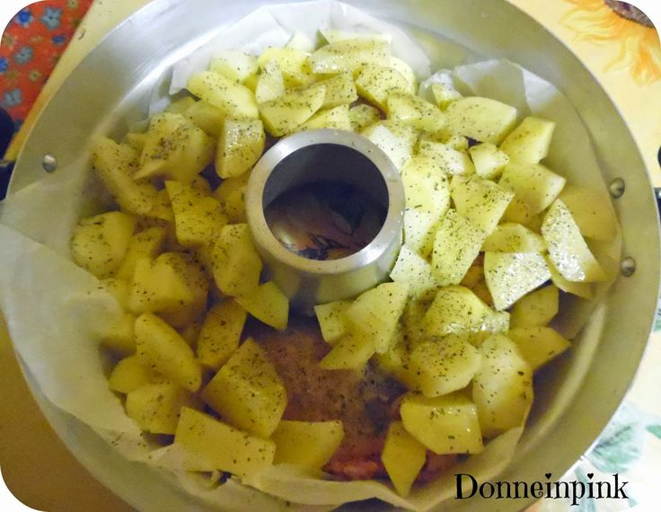 donneinpink- fai da te e consigli per gli acquisti: Pollo arrosto con patate senza forno - La pentola ...
