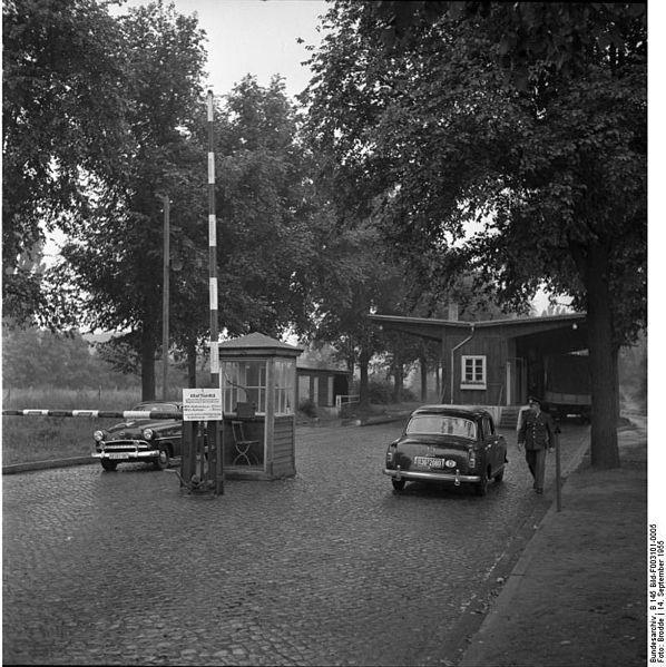 1955 Grenzübergang Berlin-Staaken