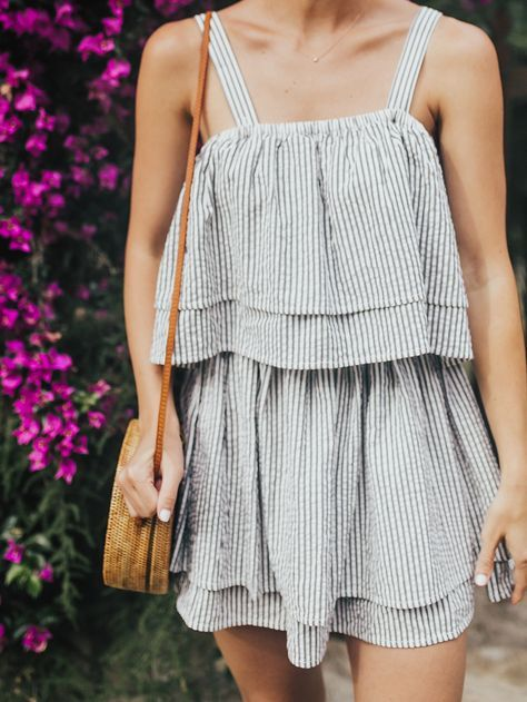 Seersucker Mini Dress | LivvyLand
