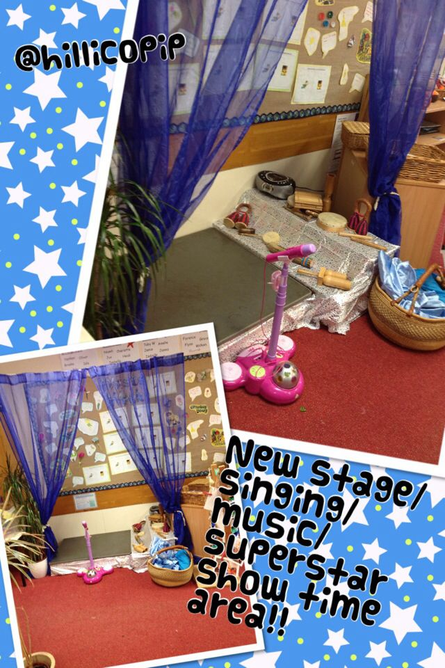 My new show time stage area....