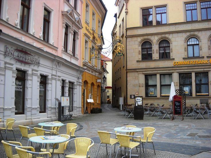 Venkovní kavárna - Míšeň - Německo